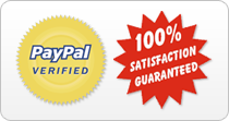 PayPal Verified - 100% Satisfaction Guaranteed