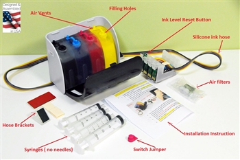 Sublimation Continuous Ink System Epson Workforce WF-3620, Epson workforce WF-3640 CIS CISS with ARC chip