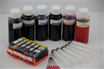 refillable ink cartridge Canon PIXMA MG6120 MG6220 MG8120 MG82220 which use the PGI 225 and CLI 226 cartridges