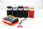 refillable ink cartridge Canon PIXMA MG5120 MG5220 MX882 iP4820 ip4920 MG5120 Mg5220, MG5320 which use the PGI 225 and CLI 226 cartridges