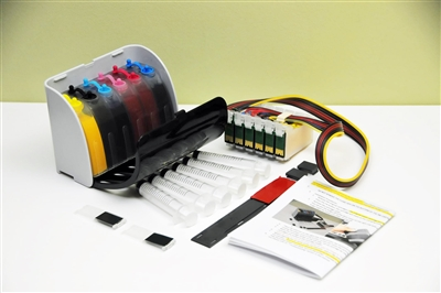 Continuous Ink Supply System For Epson Stylus Photo R260 R380 RX580 RX595 RX680 printer