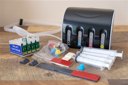 Continuous Ink System Epson Workforce 630 635 CIS CISS with ARC chip