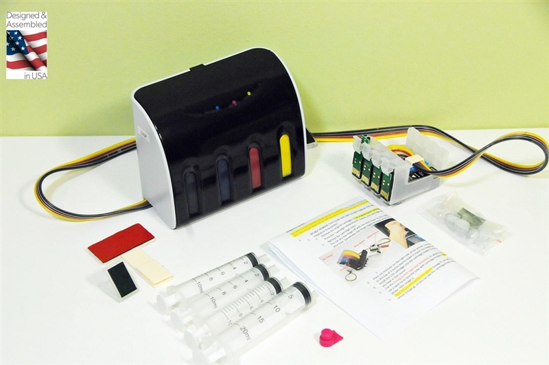 XPro V Series Pigment ink Continuous Ink System for EPSON Workforce WF 7110  7610 7620 7710 7720 7210