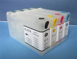 Refillable ink cartridge for Epson WorkForce Pro WP-4020 WP-4530 WP-4540