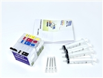 Ink Refill Kit for Epson Workforce WF-3640 WF-3620 WF-7110 WF7620 WF7610 WF-7710 WF7720 WF7210 Printer 252 Cartridges
