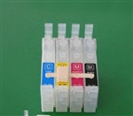 Empty 4 color CISS cartridges replacement