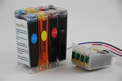 Continuous ink system for Epson Workforce 500/ NX200 / NX400  inkjet printers.